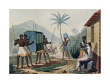 A Palanquin Being Carried in the Ile De France, from 'Voyage Autour Du Monde Sur Les Corvettes De… Giclee Print by Jacques Etienne Victor Arago