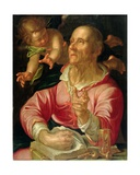 St. Matthew Giclee Print by Joachim Wtewael Or Utewael