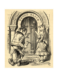 Alice and the Frog, Illustration from 'Through the Looking Glass' by Lewis Carroll (1832-98)… Giclee Print by John Tenniel