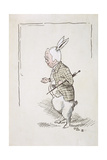 William Archibald Spooner (1844-1930) as the White Rabbit Giclee Print by John Tenniel