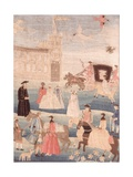 The Chandler Wedding Tapestry, C.1756 Giclee Print
