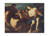 Musical Duel Between Apollo and Marsyas Giclee Print by Pietro Antonio Novelli