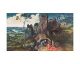 St. Jerome in the Desert Giclee Print by Joachim Patenir