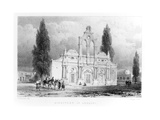 Monastery of Arkadhi, Crete, from 'travels in Crete' by Pashley, Engraved by Louis Haghe… Giclee Print by Anton Schranz