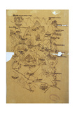 Tracing of a Tibetan Picture Map of the Mount Everest Range, 1898 Giclee Print by Major Lawrence Waddell