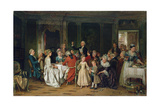 The Toast to the Bride, 1870 Giclee Print by Marc Louis Benjamin Vautier