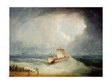 A Deal Lugger Going Off to a Storm-Bound Ship in the Downs, South Foreland Giclee Print by Thomas Buttersworth