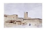 The Temple of Dendur, Showing the Pylon and Terrace, 1874 Giclee Print by Frederick Arthur Bridgman