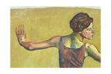Femme Joyeuse (Detail) Gicléetryck av Ferdinand Hodler