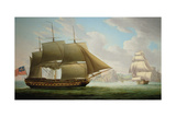 East Indiaman 'Cirencester' Off St. Helena, 1795 Giclee Print by Robert Dodd