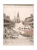 The Boston Massacre, 5th March 1770 Giclee Print by Henry Pelham