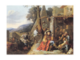 Bohemians and Soldiers at Rest Giclee Print by Sebastien Bourdon