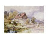 Chalet, Brunnen, Lake Lucerne Giclee Print by James Duffield Harding