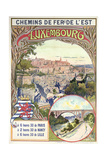 Poster Advertising Luxembourg, C.1900 Giclee Print by pseudonym of Trinquier, Louis Trinquier-Trianon