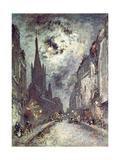 Rue Saint-Severin, 1877 Giclee Print by Johan-Barthold Jongkind