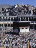 View of the Kaaba in the Courtyard of the Main Mosque Photographic Print