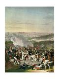 Flight of Napoleon I (1769-1821) Battle of Waterloo, 18th June 1815, 1816 Giclee Print by Johann Lorenz Rugendas
