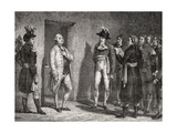 Joseph Garat (1749-1833) Proclaims the Arrest of King LouisXVI (1754-93) Giclee Print by H. de la Charlerie