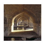 View Along the Inside of the Khaju Bridge Dam, Safavid Period Giclee Print