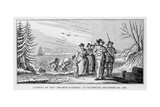 Landing of the 'Pilgrim Fathers' at Plymouth on Cape Cod, Massachusetts, December 22nd 1620,… Giclee Print