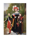 Marie Amelie of Bourbon-Sicile (1782-1866) and Her Sons, Henri of Orleans (1822-97) Duke of… Giclee Print by Louis Hersent
