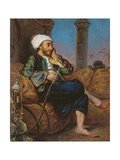 An Egyptian Man Smoking a Hookah Giclee Print by Louis Leopold Boilly