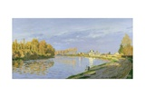 The Seine at Bougival, 1872 Giclee Print by Claude Monet
