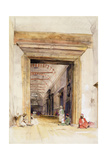 The Great Doorway of the Mosque of Santa Sophia, Constantinople Giclee Print by John Frederick Lewis