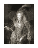 Queen Elizabeth I (1533-1603), from 'Lodge's British Portraits', 1823 Giclee Print by Taddeo Zuccaro