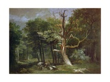 Wolf Hunt in the Forest of Saint-Germain, 1748 Giclee Print by Jean-Baptiste Oudry