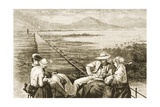 An Inspection Car on the Pacific Railway Appraoching the Great Salt Lake, C.1880 Giclee Print by Reverend Samuel Manning