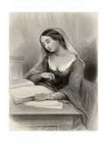 Heloise (1101-60) Illustration from 'World Noted Women' by Mary Cowden Clarke, 1858 Giclee Print by Pierre Gustave Eugene Staal