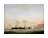 Paddle Steamer in Plymouth Sound Off Mount Edgecombe, 1841 Giclee Print by Nicholas Matthews Condy