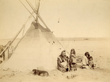 Indian Family, Canada, 1880-90 Photographic Print by William Notman