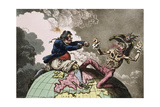 Fighting for the Dunghill, or Jack Tar Settl'Ing Buonaparte, Published by Hannah Humphrey in 1798 Giclee Print by James Gillray