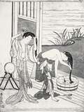 Young Women at their Toilet Photographic Print by Suzuki Harunobu