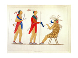 Atotarho, the First Iroouols Ruler, from 'Information Respecting the History, Condition and… Giclee Print by Captain Seth Eastman