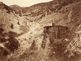 Chicago Hoisting Works, Dry Canyon, Usa, 1861-75 Photographic Print by Carleton Emmons Watkins