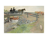The Bridge, from 'A Home' Series, C.1895 Giclee Print by Carl Larsson
