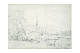 Salisbury Cathedral from the North West, 1829 Giclee Print by John Constable