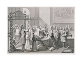 Baptism According to the Church of Rome (In the 18th Century), Engraved by A. Thorn, from 'World… Giclee Print by  Picart (After)