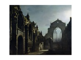Ruins of Holyrood Chapel Giclee Print by Louis Jacques Mande Daguerre