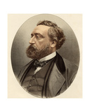 Leon Michel Gambetta (1838-82) from 'The Gallery of Portraits', Published 1833 Giclee Print