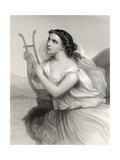 Sappho,Illustration from 'World Noted Women' by Mary Cowden Clarke, 1858 Giclee Print by Pierre Gustave Eugene Staal