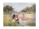 Marlow Lock Giclee Print by Hector Caffieri