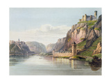 St. Goarshausen, St. Goar and Rheinfels, Engraved by T. Sutherland, from 'A Picturesque Tour… Giclee Print by Christian Georg II Schutz Or Schuz