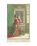 Lady Looking in the Mirror, Published C.1688-90 Giclee Print by Jean Dieu De Saint-jean