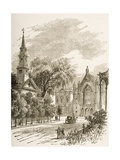 St Mark's Church In-The-Bowery, New York, C.1880 Giclee Print by Reverend Samuel Manning