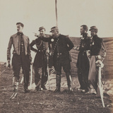 General Bosquet (1810-61) and Staff, 1855 Photographic Print by Roger Fenton