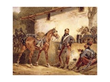 French Soldiers Resting, 1831 Giclee Print by Hippolyte Lecomte